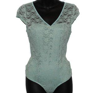 Lacey V Neck One Piece Mint Body Suit